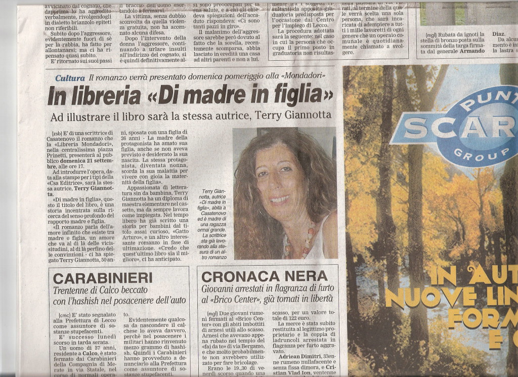Giornale Merate 16.09.08