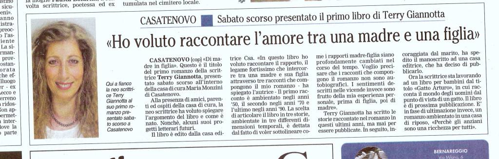 Giornale Merate 16.12.08