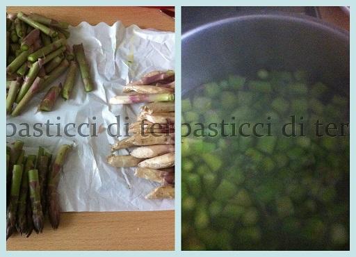 Calzoni asparagi ricotta e prosciutto