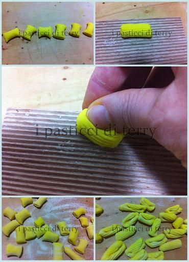 Cavatelli gialli con crema di piselli e tonno1