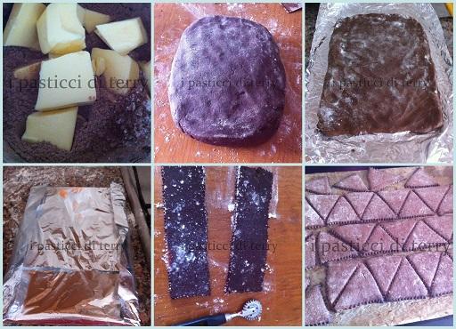 Biscotti al cacao a triangolo