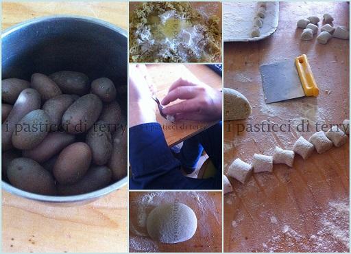 Gnocchi di patate rosse con salsa di noci