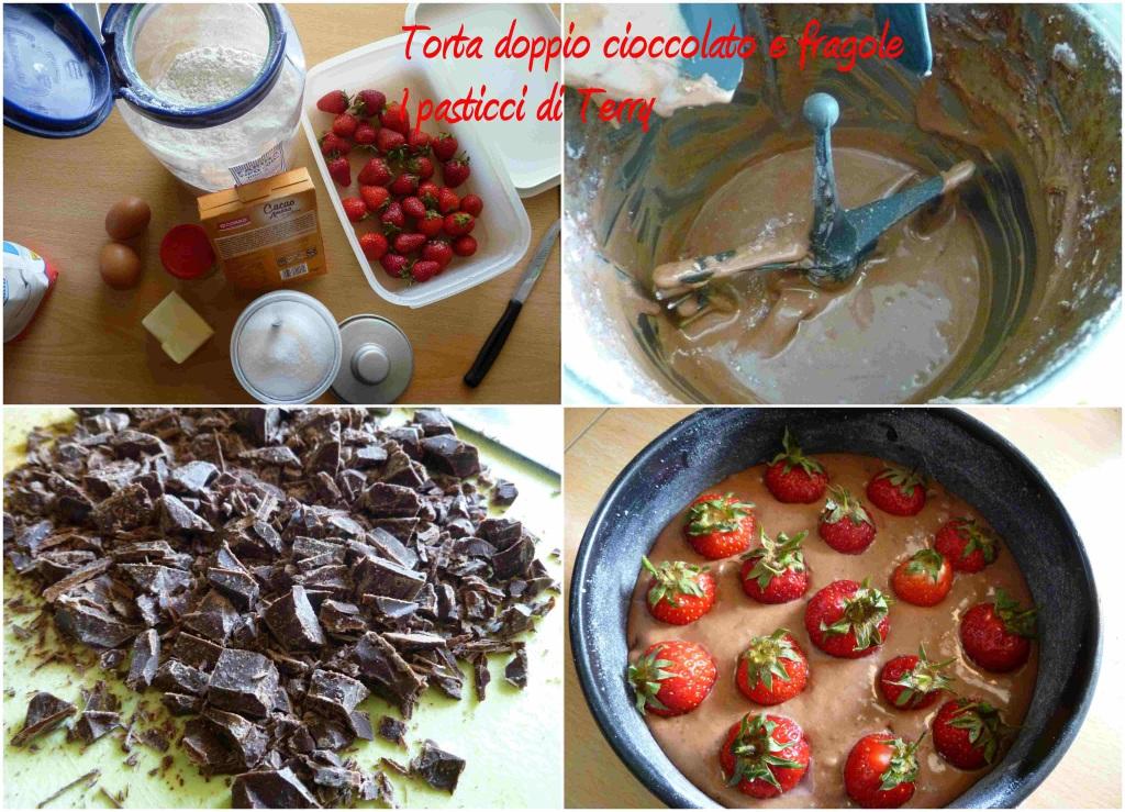 Torta doppio cioccolato e fragole 1