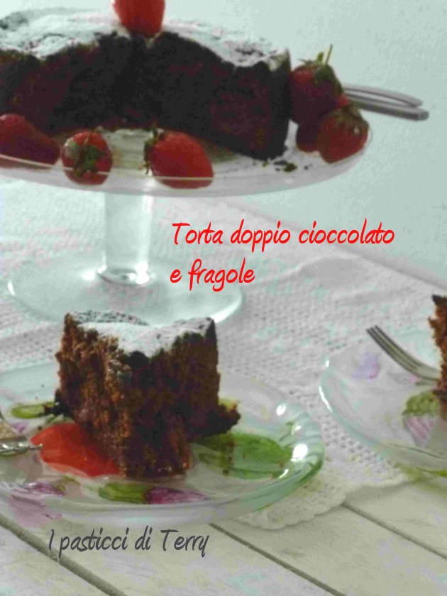 Torta doppio cioccolato e fragole (14)