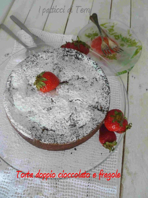 Torta doppio cioccolato e fragole (8)