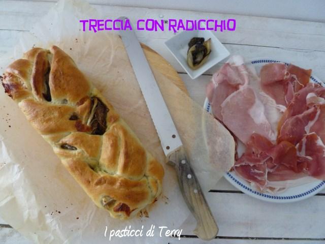 Treccia con radicchio e mozzarella (2)