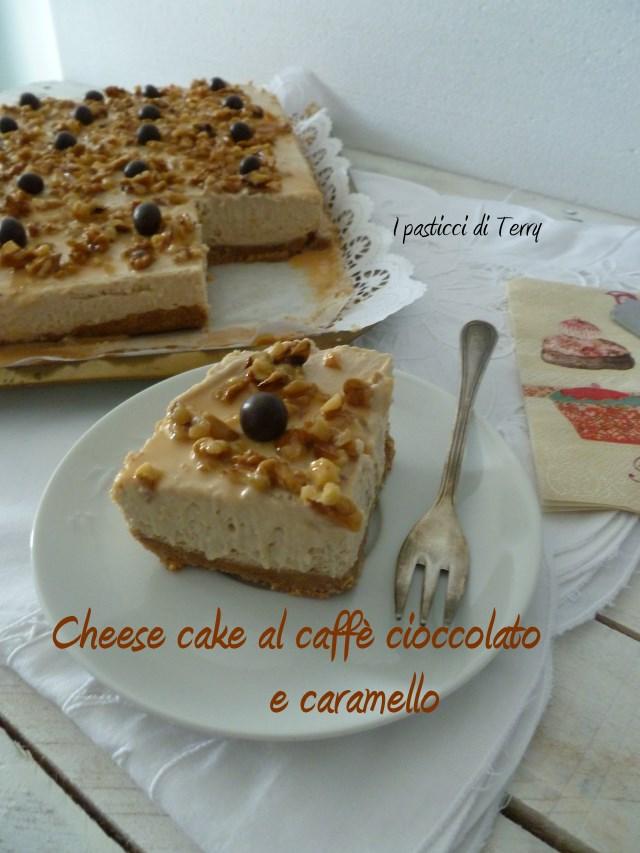 Cheese cake al caffè cioccolato e caramello (7)