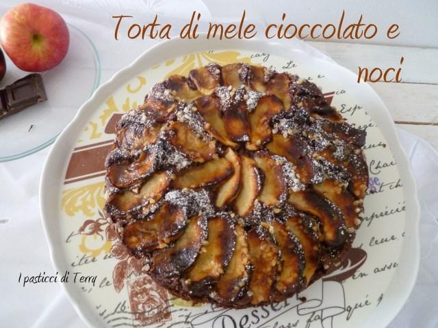 Torta di mele cioccolato e noci (11)