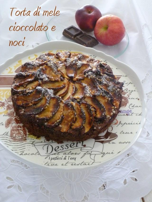 Torta di mele cioccolato e noci (7)