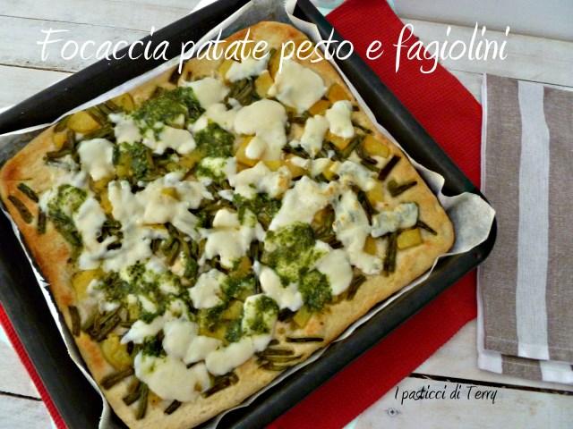 Focaccia patate pesto e fagiolini (8)