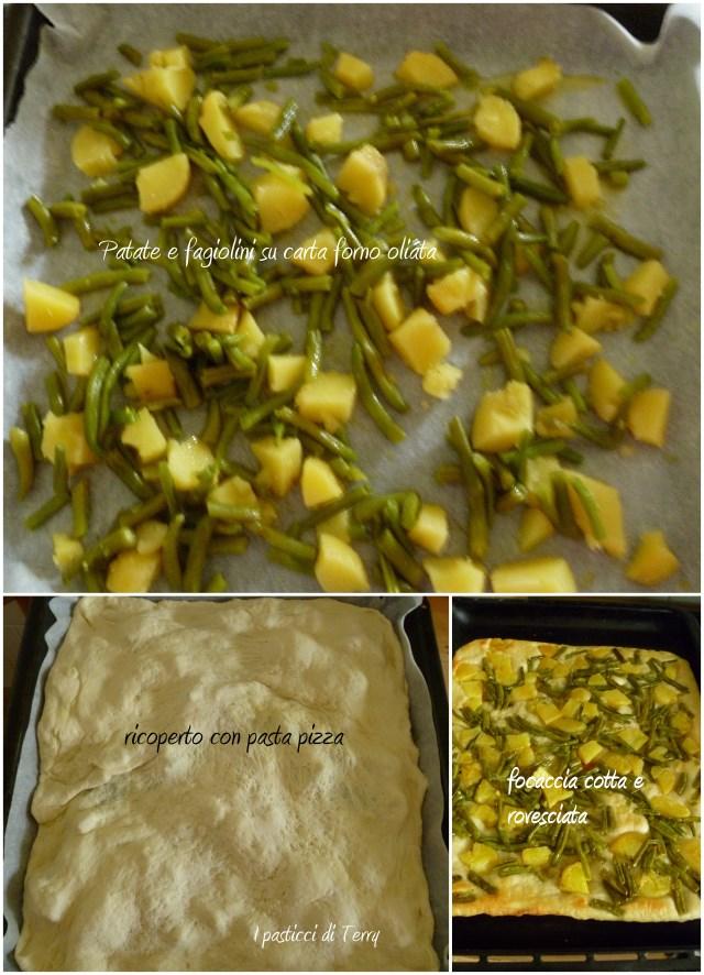Focaccia patate pesto e fagiolini