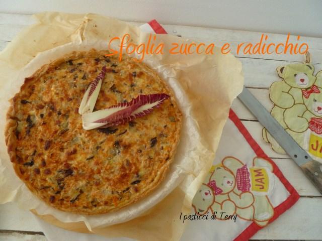 Torta salata - Sfoglia con zucca e radicchio (7)