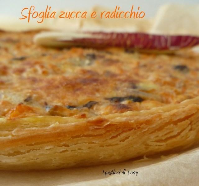 Torta salata - Sfoglia con zucca e radicchio (9)