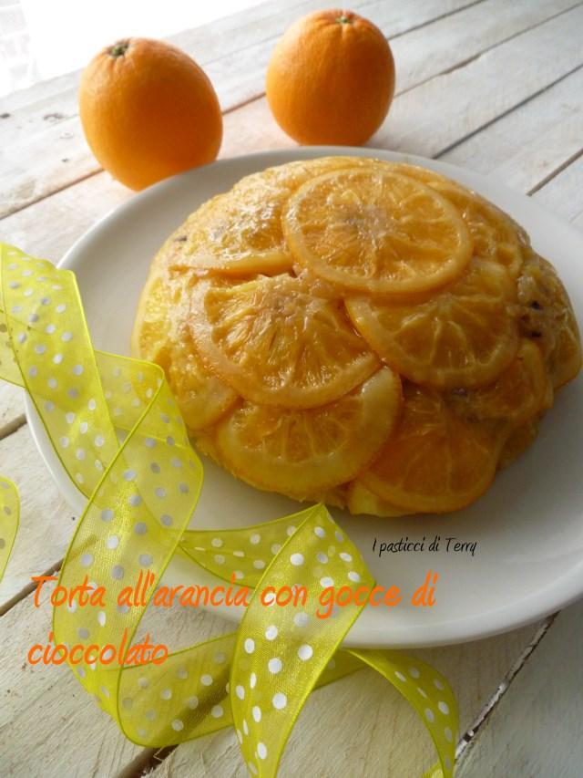 Torta all'arancia con gocce di cioccolato (10)