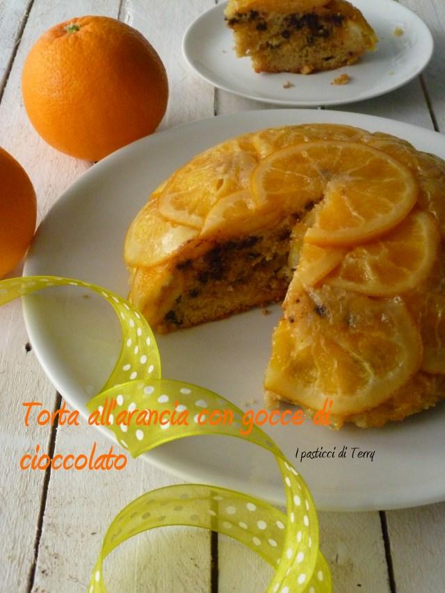 Torta all'arancia con gocce di cioccolato (15)