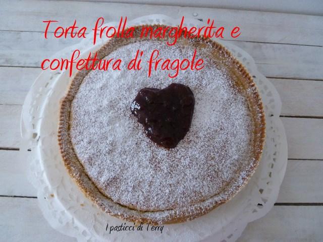 Torta frolla margherita e confettura di fragole (5)