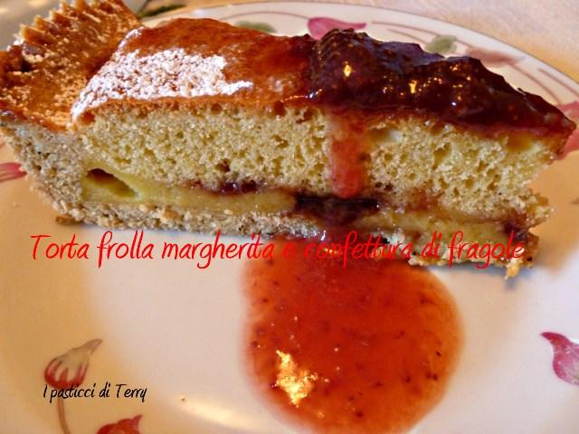 Torta frolla margherita e confettura di fragole (7)