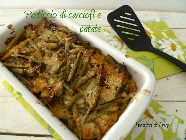 Pasticcio di carciofi e patate 1