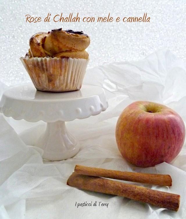 Rose di Challah con mele e cannella (12)