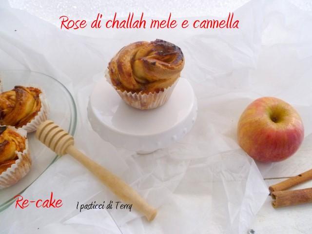 Rose di Challah con mele e cannella (13)