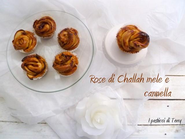 Rose di Challah con mele e cannella (7)