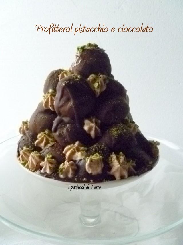 Profitterol pistacchio e cioccolato (10)