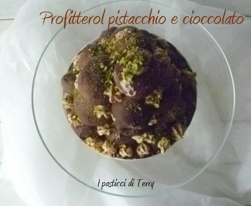 Profitterol pistacchio e cioccolato (6)