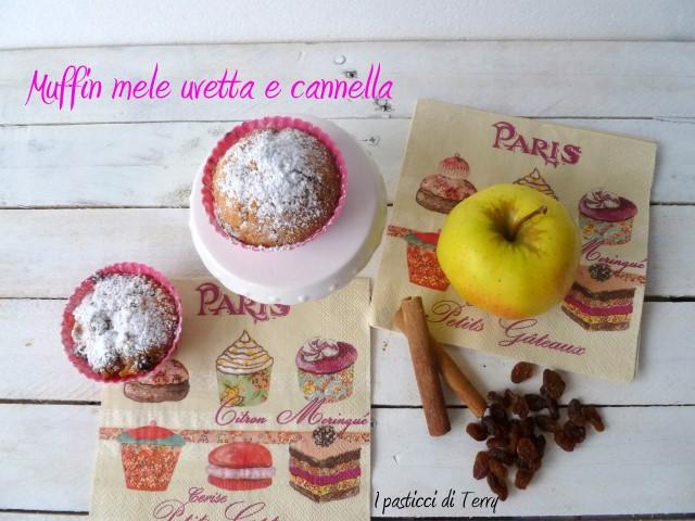 Muffin mele uvetta e cannella (13)