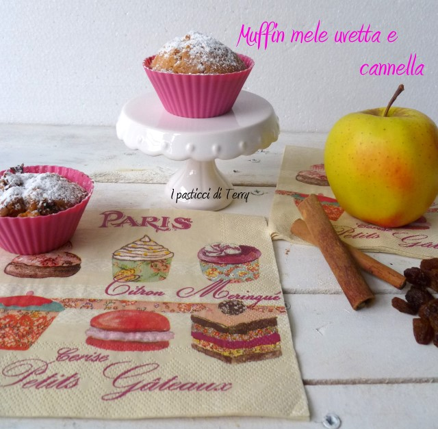 Muffin mele uvetta e cannella (17)