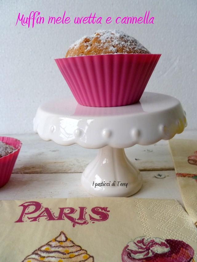 Muffin mele uvetta e cannella (18)