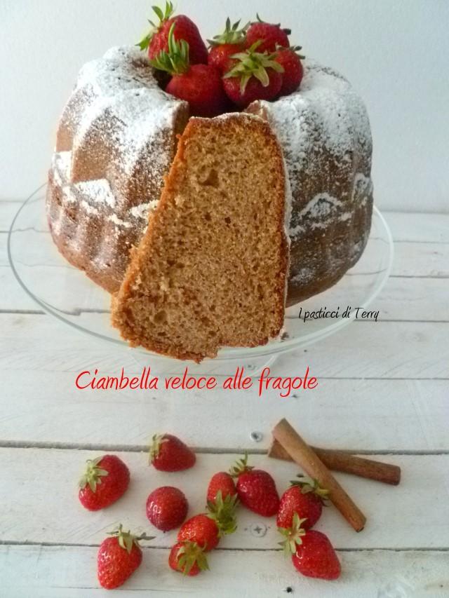 Ciambella veloce alle fragole (8)