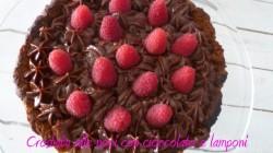 Crostata alle noci con cioccolato e lamponi (3)