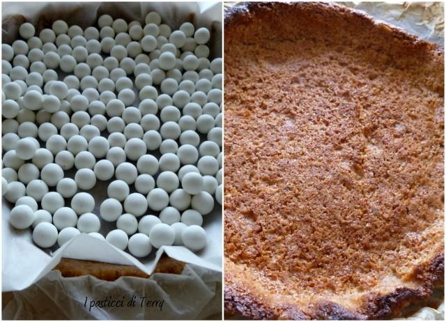 Crostata alle noci con cioccolato e lamponi