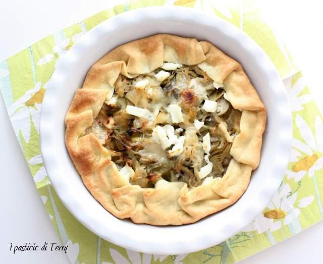 Brisè con patate carciofi cipolle e formaggi (6)