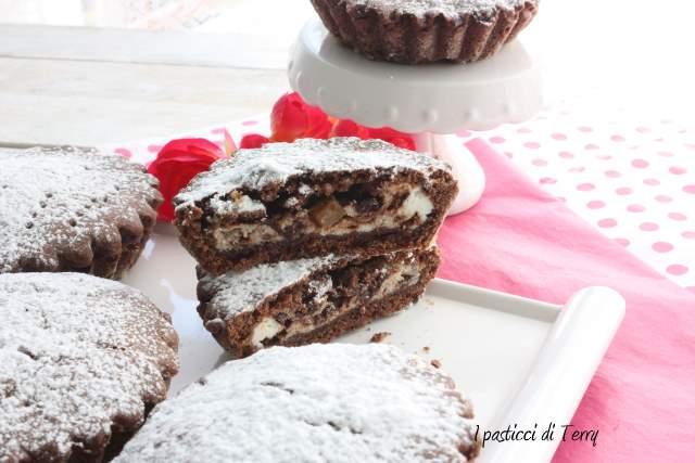 Tortini al cacao con pere e ricotta (12)