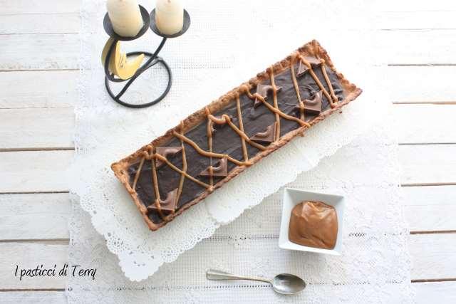 Crostata Sablè con caramello salato e ganache di cioccolato (10)