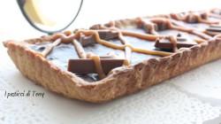 Crostata Sablè con caramello salato e ganache di cioccolato (13)