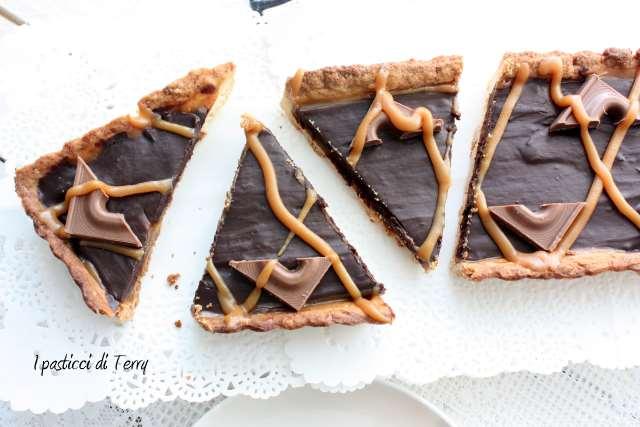 Crostata Sablè con caramello salato e ganache di cioccolato (20)