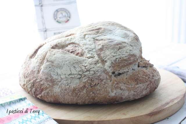 Pane semi integrale con crusta di avena (11)
