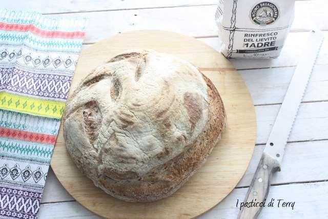 Pane semi integrale con crusta di avena (9)
