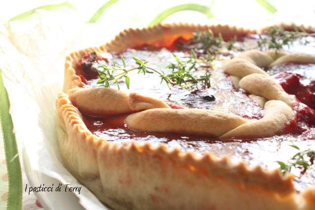 Tart con fragole arrostite e timo (12)