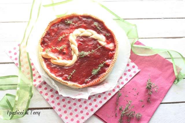 Tart con fragole arrostite e timo (3)