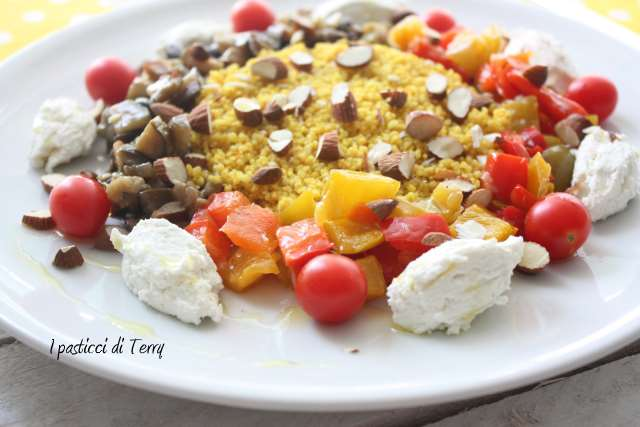 Cous cous verdure ricotta e mandorle (3)