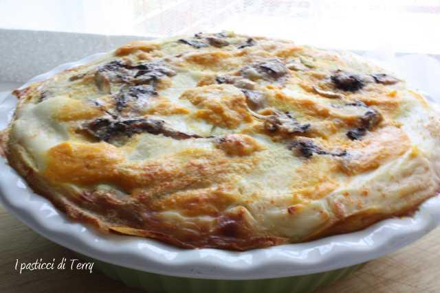 Lasagna di creps zucca zola e radicchio (11)