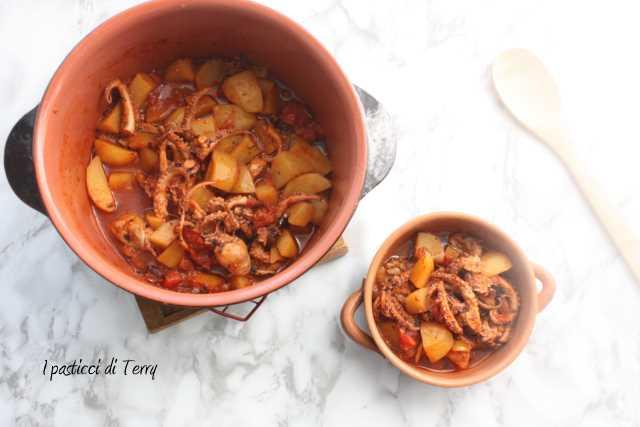 Polpo con patate e pomodori secchi (1)