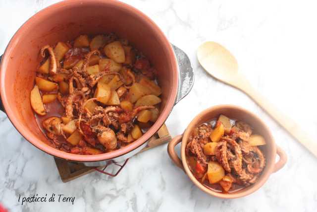Polpo con patate e pomodori secchi (7)