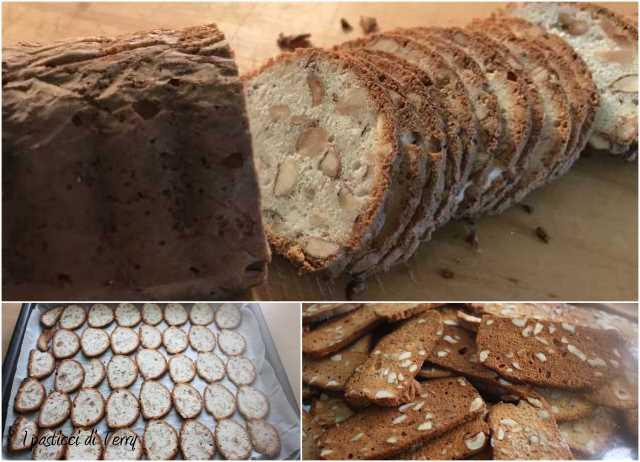 Cialde di biscotto mandorle e nocciole