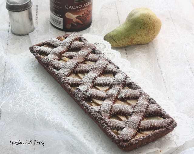 Crostata cioccolato e pere (13)