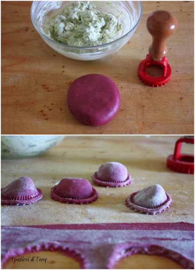 Cappellini rosa con asparagi