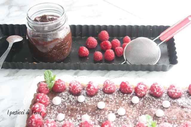 Crostata al cioccolato e lamponi (14)